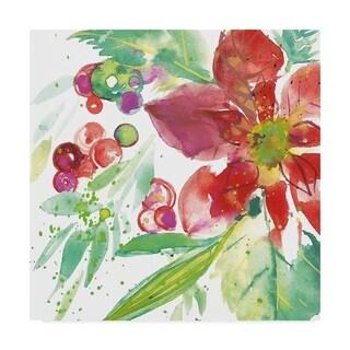 Kristy Rice 'Poinsettia Pretty Iv' Canvas Art