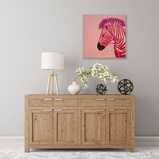 ArtWall Pink Zebra Wood Pallet Art