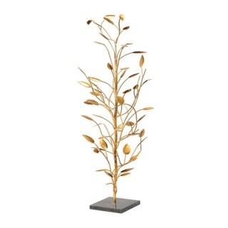 Uttermost Seedling Bright Metallic Gold Leaf Sculpture