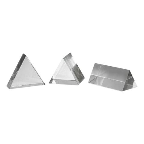 Uttermost Triangle Clear Sculptures (Set of 3)