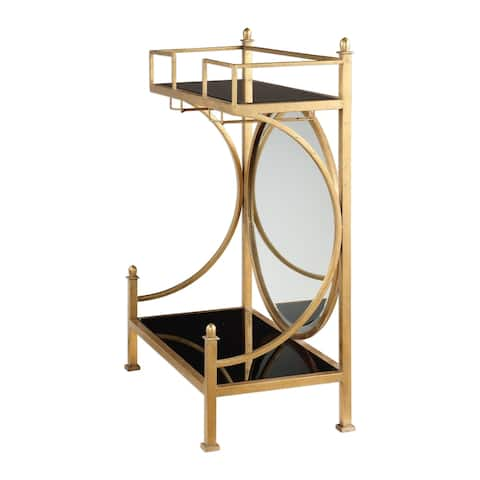 Uttermost Presley Lightly Antiqued Gold Bar Console