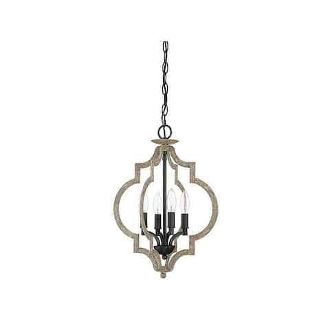 The Gray Barn Lunasa 4-light Foyer Pendant with Weathered Birch