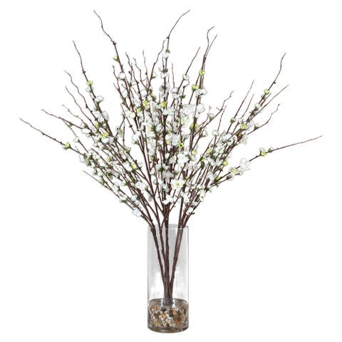 Uttermost Quince Blossoms Cream Silk Centerpiece