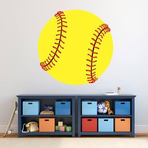 Softball Printed Wall Decal