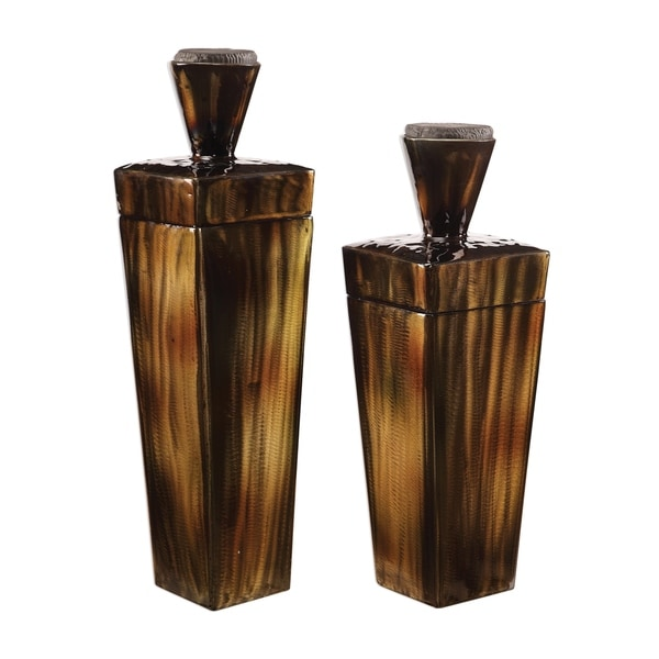 Uttermost Lisa Warm Brown Containers (Set of 2)