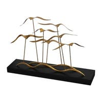 Uttermost Flock Of Seagulls Metallic Gold Leaf Sculptures