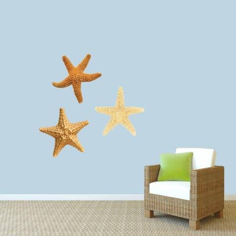 Real Life Starfish Printed Wall Decals