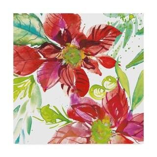 Kristy Rice 'Poinsettia Pretty I' Canvas Art