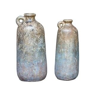 Uttermost Ragini Aged Caramel Terracotta Bottles (Set of 2)