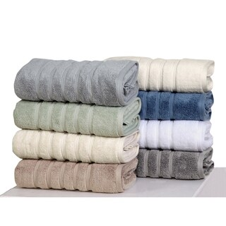 100% long-staple cotton Zero-Twist Towel Set (6-Piece), quick dry towels, super plush hand feel, water gobbler By Homeway Décor