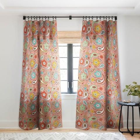 Heather Dutton Adora Paisley Single Panel Sheer Curtain - 50 X 84