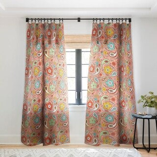 Heather Dutton Adora Paisley Single Panel Sheer Curtain - 50 X 84