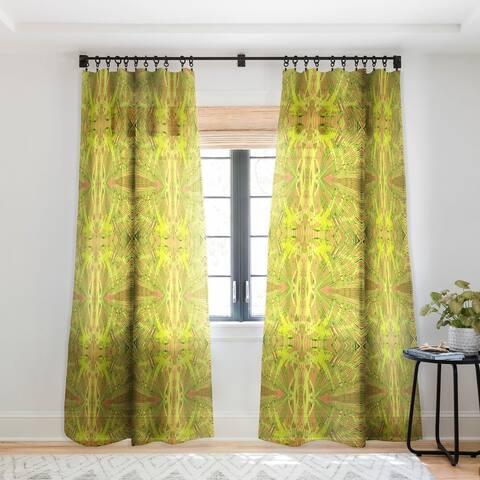 Rosie Brown Orange Palms Single Panel Sheer Curtain - 50 X 84