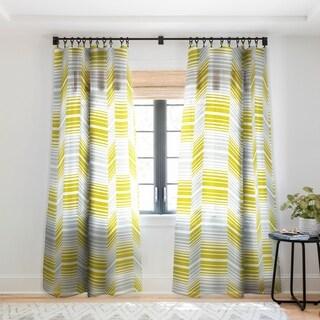 Heather Dutton Delineate Citron Single Panel Sheer Curtain