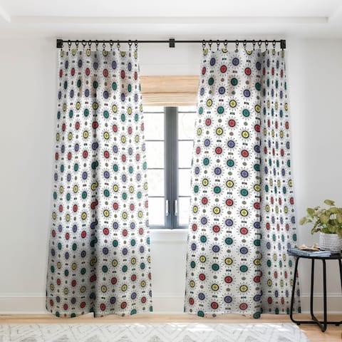 Andi Bird Retro Starlight White Single Panel Sheer Curtain - 50 X 84