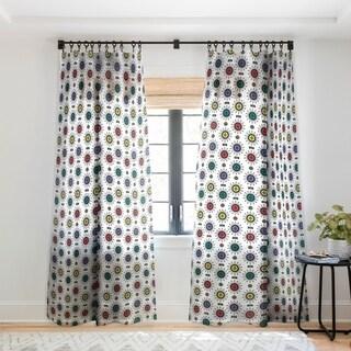 Andi Bird Retro Starlight White Single Panel Sheer Curtain