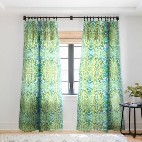 Rosie Brown Happy Dance Single Panel Sheer Curtain - 50 X 84