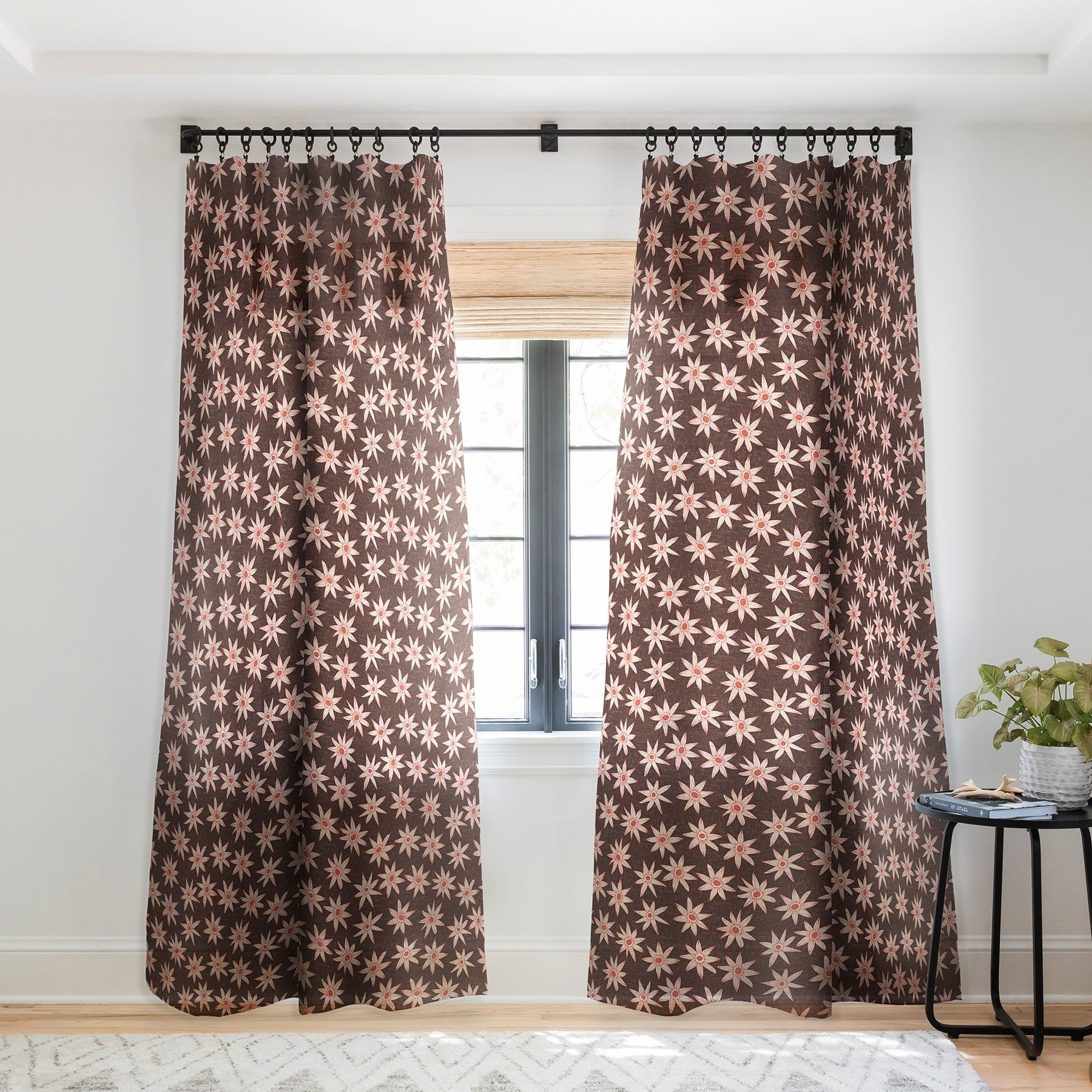 Sharon Turner Sema Brown Single Panel Sheer Curtain 50 X 84 On Sale Overstock 22042286