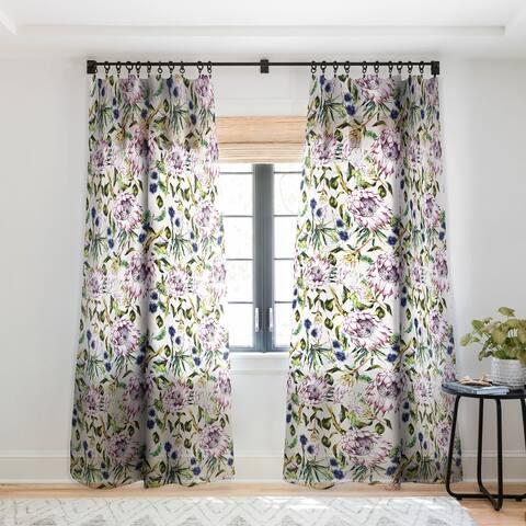 Marta Barragan Camarasa Pattern floral boho Single Panel Sheer Curtain - 50 X 84