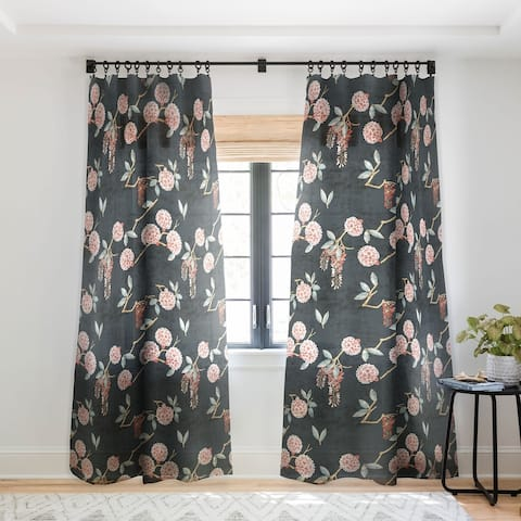 Holli Zollinger Floralista Single Panel Sheer Curtain - 50 X 84