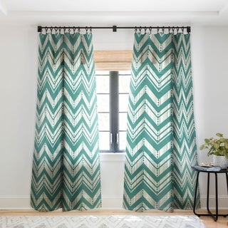 Heather Dutton Weathered Chevron Single Panel Sheer Curtain - 50 x 84