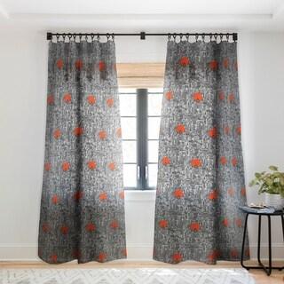 Sharon Turner Space City Red Sun Single Panel Sheer Curtain