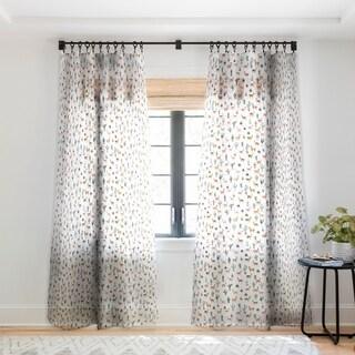 Dash and Ash Llamas and Plants Single Panel Sheer Curtain - 50 x 84