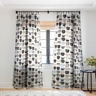 Elisabeth Fredriksson Pretty Coffee Cups 3 Single Panel Sheer Curtain - 50 X 84