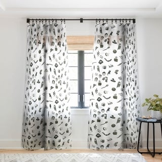 Dash and Ash Mischief Single Panel Sheer Curtain - 50 x 84