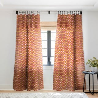Sharon Turner Party Boardwalk Ikat Single Panel Sheer Curtain - 50 X 84
