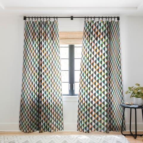 Sharon Turner Eclipse Diamonds Single Panel Sheer Curtain - 50 X 84