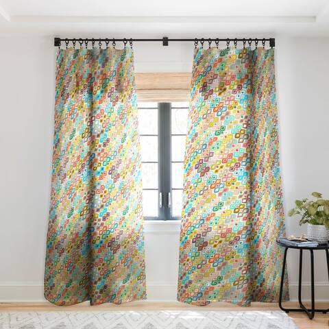 Sharon Turner Varsha Ikat Single Panel Sheer Curtain - 50 X 84