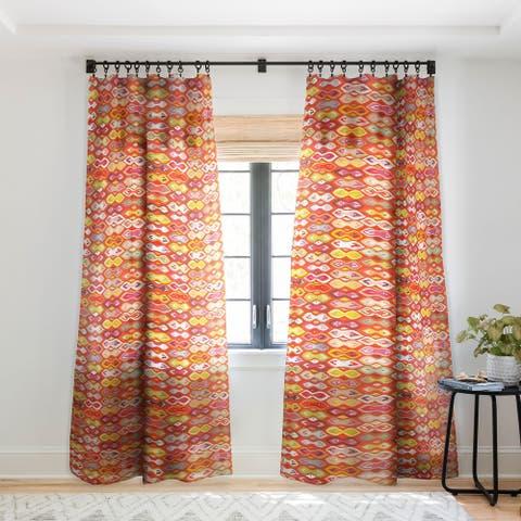 Sharon Turner Raveena Ikat Single Panel Sheer Curtain - 50 X 84
