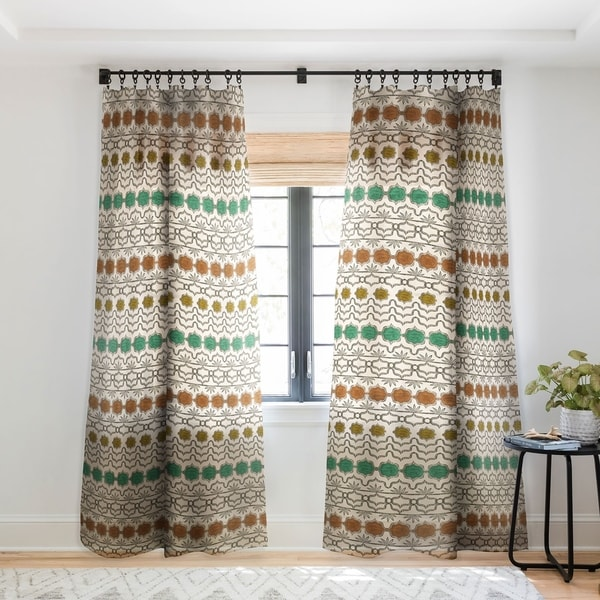 Dash and Ash Planted and Grow Single Panel Sheer Curtain - 50 X 84