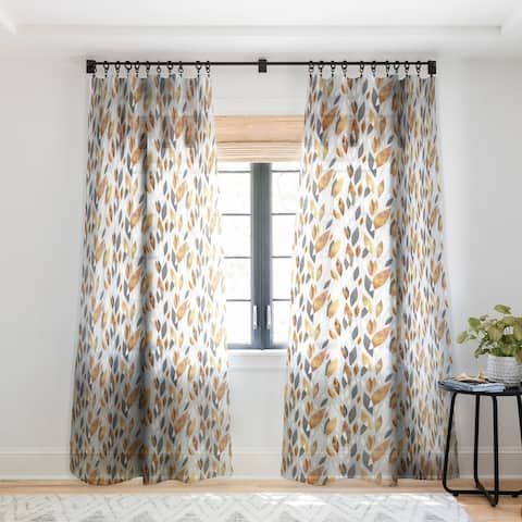 Elisabeth Fredriksson Falling Leaves Single Panel Sheer Curtain - 50 X 84