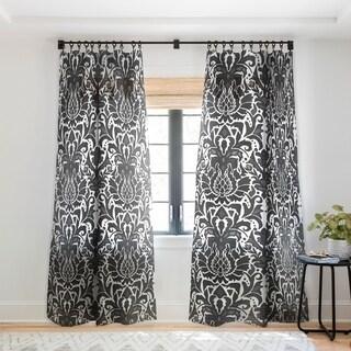 Sharon Turner Aya damask Single Panel Sheer Curtain - 50 X 84