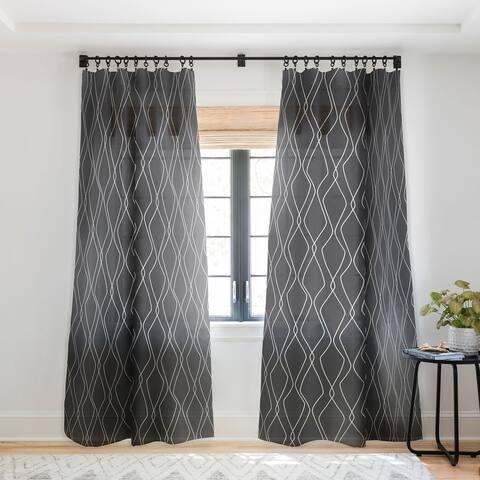 Heather Dutton Fuge Slate Single Panel Sheer Curtain - 50 X 84