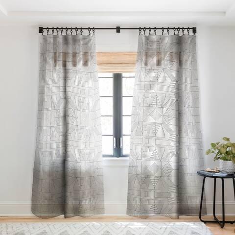 Holli Zollinger Line Mandala Single Panel Sheer Curtain - 50 X 84