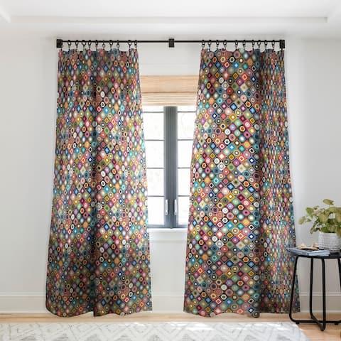 Sharon Turner festival Diamond Single Panel Sheer Curtain - 50 X 84