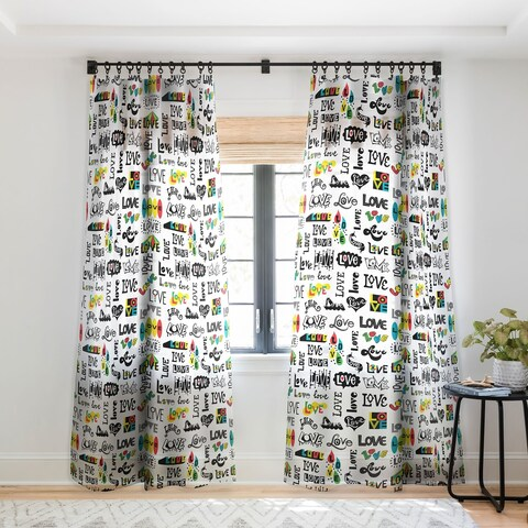 Andi Bird More Love Single Panel Sheer Curtain - 50 x 84