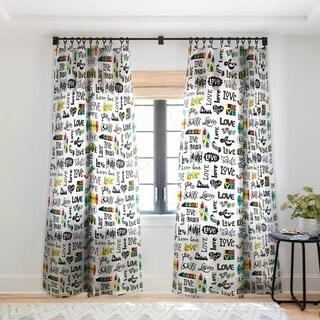 Andi Bird More Love Single Panel Sheer Curtain - 50 x 84