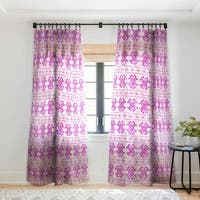Schatzi Brown Justina Mark Peach ans Pink Single Panel Sheer Curtain - 50 X 84