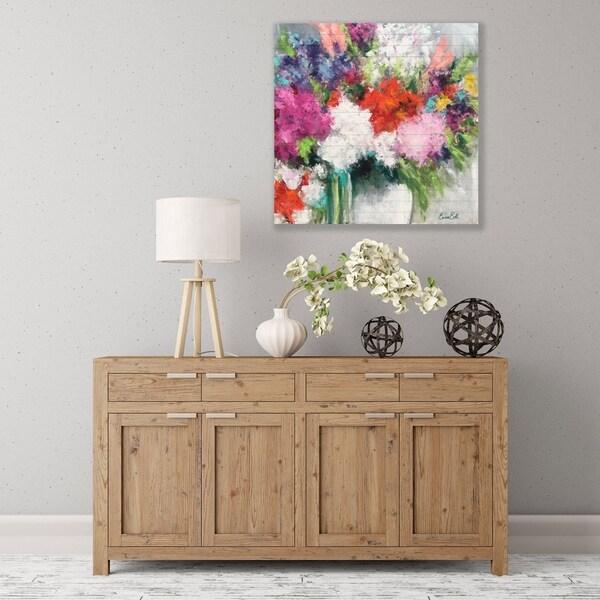 ArtWall Flower Market Frenzy Wood Pallet Art