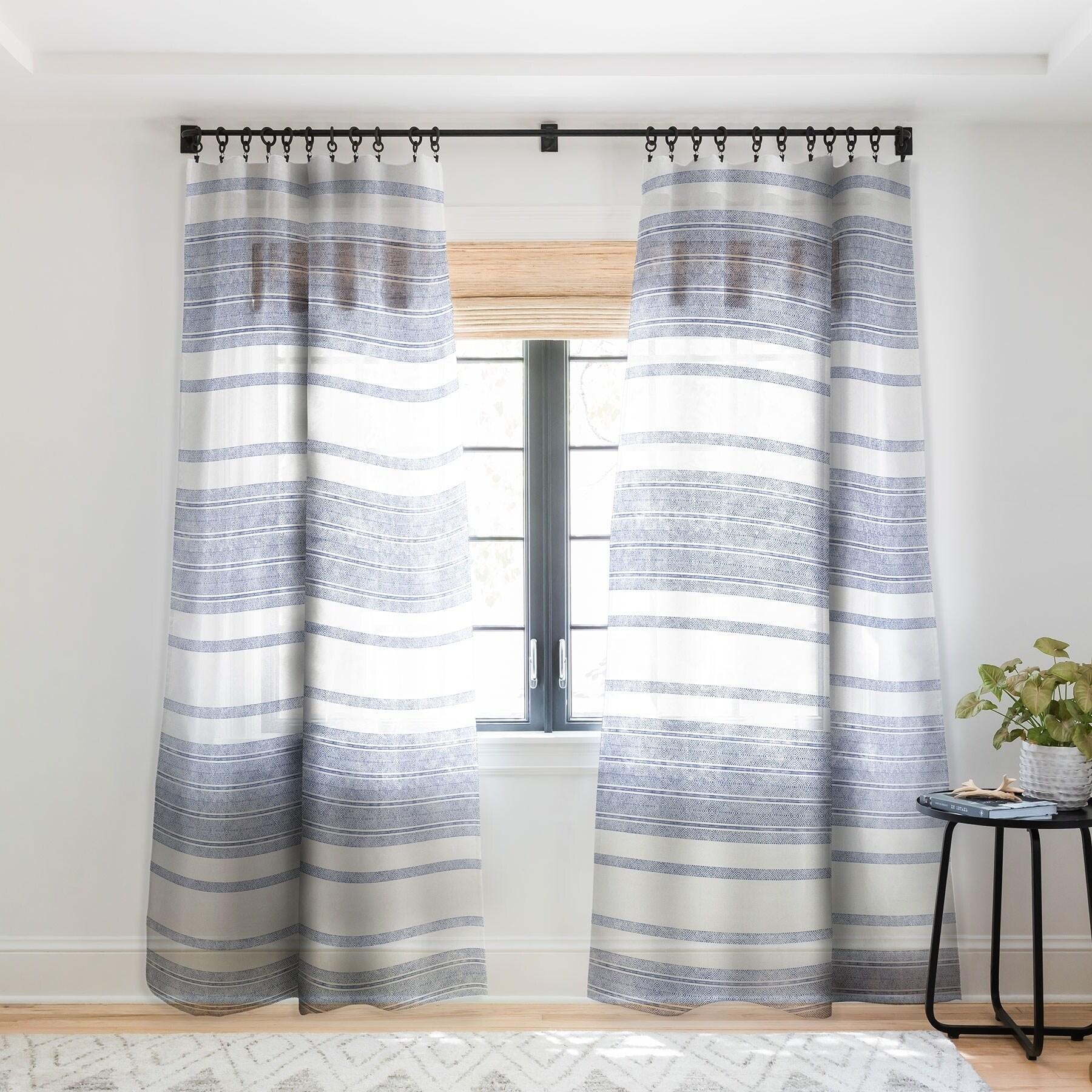 Holli Zollinger Capri Stripes Single Panel Sheer Curtain 50 X 84