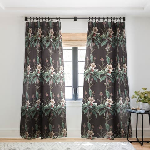 CayenaBlanca Dramatic Garden Single Panel Sheer Curtain - 50 X 84