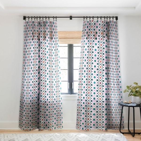 Schatzi Brown Aviana Diamond White Single Panel Sheer Curtain - 50 X 84