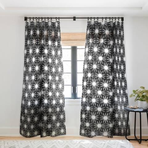 Schatzi Brown Mila Sun Black Single Panel Sheer Curtain - 50 X 84