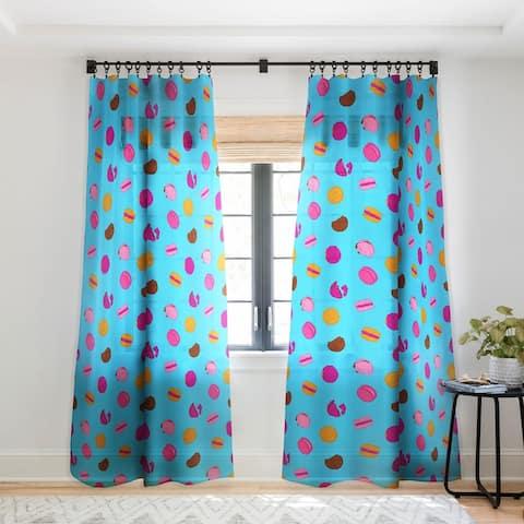 Evgenia Chuvardina Kawaii french macarons Single Panel Sheer Curtain - 50 X 84