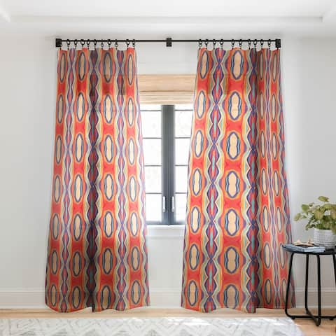 Viviana Gonzalez Psychedelic pattern 02 Single Panel Sheer Curtain - 50 X 84