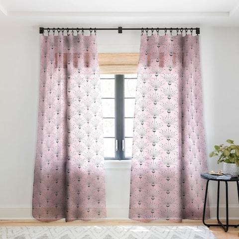 Emanuela Carratoni The Peacock Eye Single Panel Sheer Curtain - 50 X 84